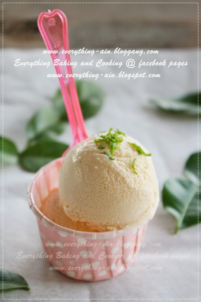 Everything Baking and Cooking ~: kaffir lime ice cream ...