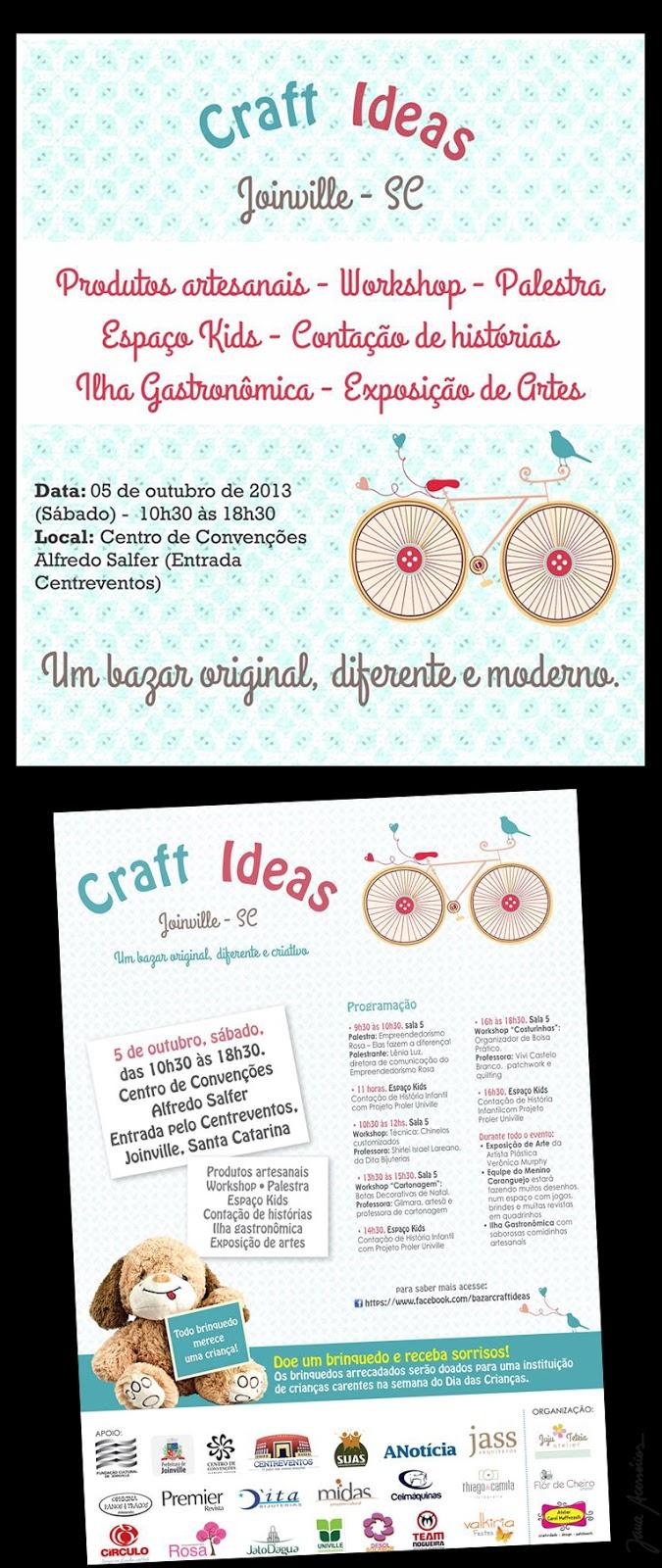 Craft Ideas, Bazar, Joinville, Artesãs