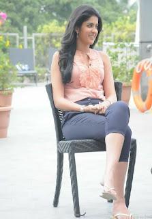 Deeksha Seth Cute in Tight Top and Leggins Promoting Rajapattai Tamil Movie