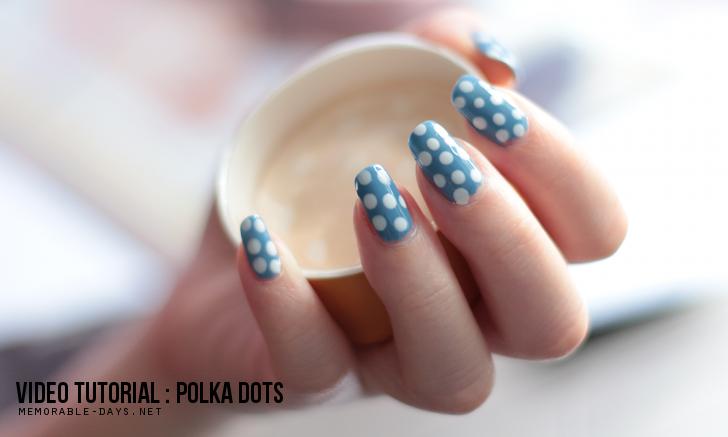 VIDEO: Polka Dots Nail Art - Nail Shop Paris Ep 10   Memorable Days ...