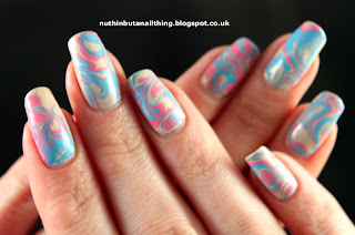 Dry Water Marble Nails Tutorial