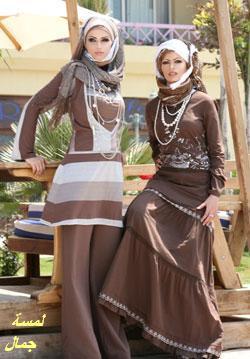 احدث صور ملابس محجبات 2014