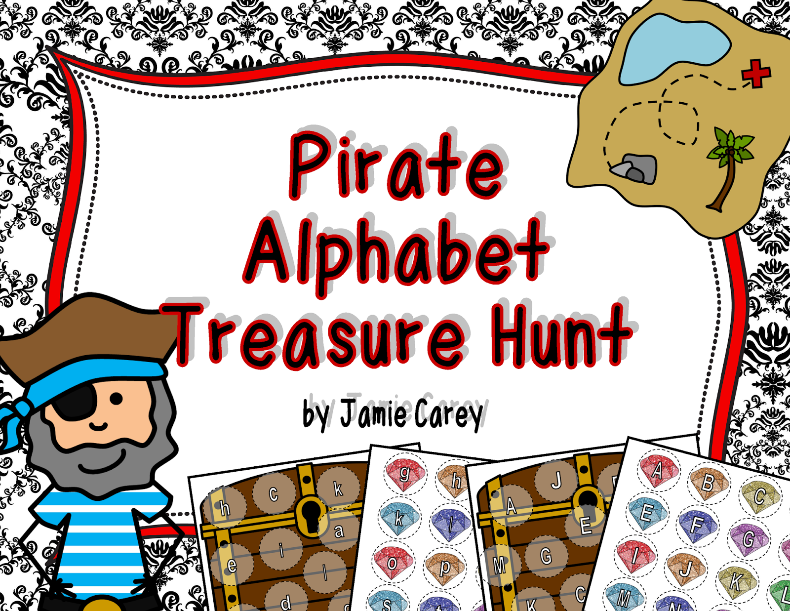 http://www.teacherspayteachers.com/Product/Pirate-Alphabet-Treasure-Hunt-1373632