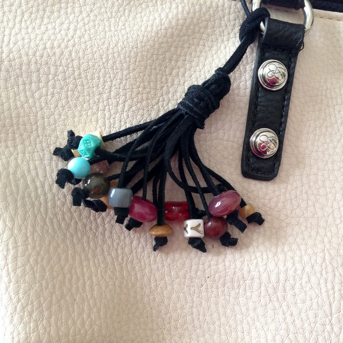 Glam your bag with a beaded purse tassel: from Lisa Yang's Jewelry Blog