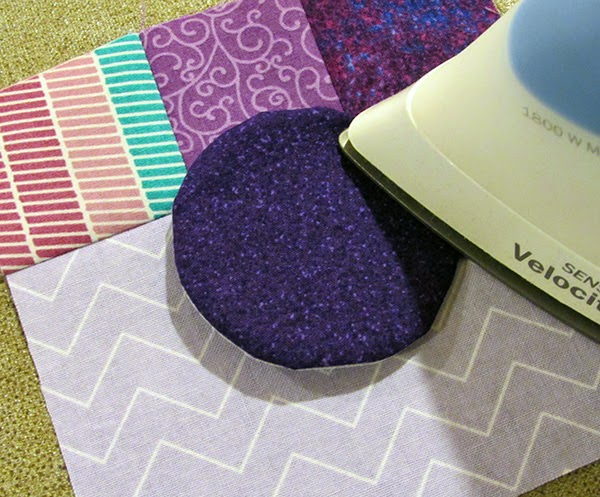 making the quilted mug mat