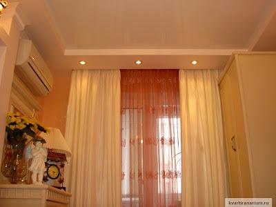 фото ниша в потолке для карниза и штор