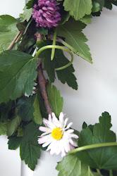 en blomsterkrans fra sanne