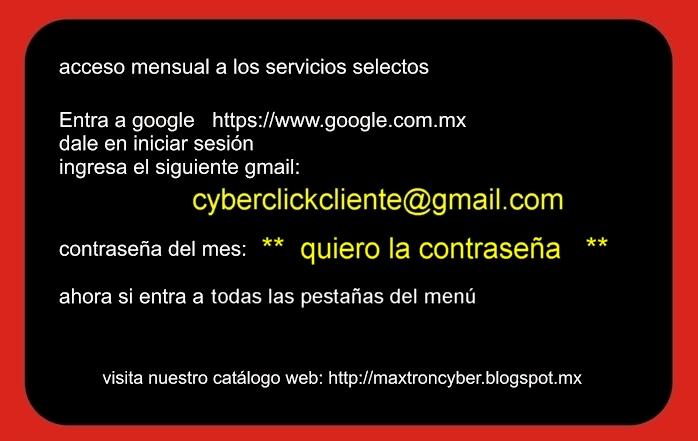 email y contraseña de acceso