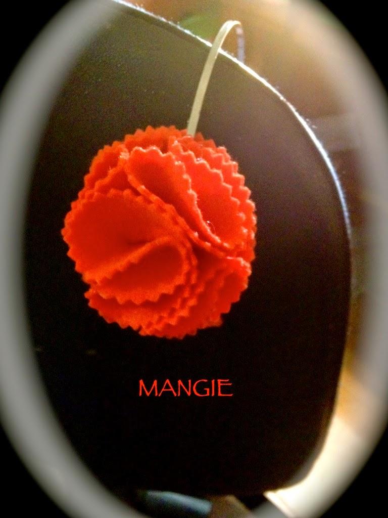 Diadema clavel naranja