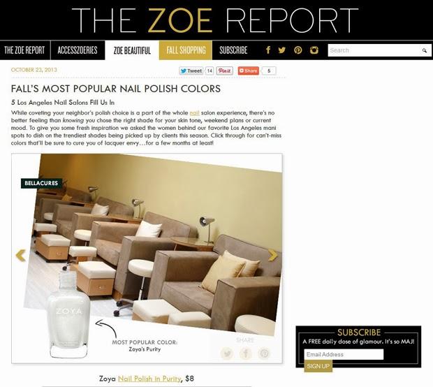 Zoya Nail Polish Blog Zoya Purity Named One Of Los