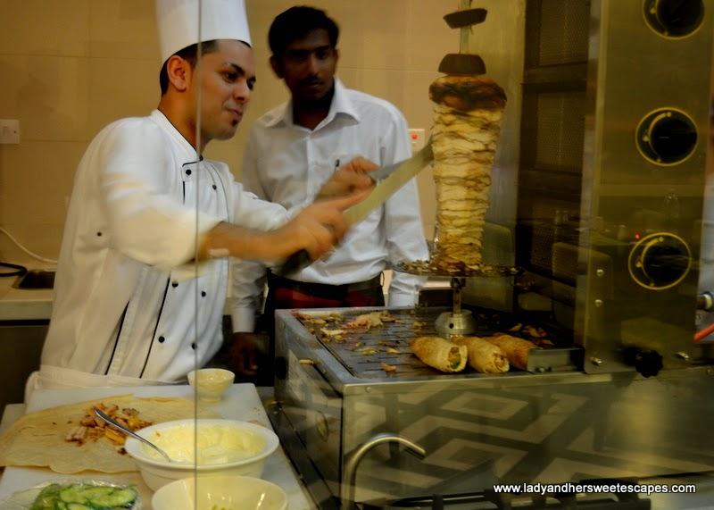 Shawarma Station at Metro! Millennium Plaza Hotel Dubai