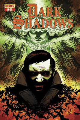 Cover of Dark Shadows #3 by Aaron Campbell from Dynamite Entertainment