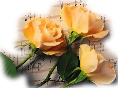 Belles lettre d'amour avec fleur