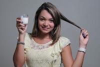 Alisamento natural com leite