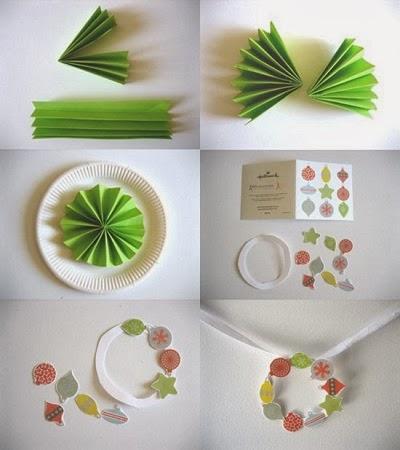Arbol de navidad con platos descartables y papel manualidades faciles paso a paso - Manualidades de navidad paso a paso ...