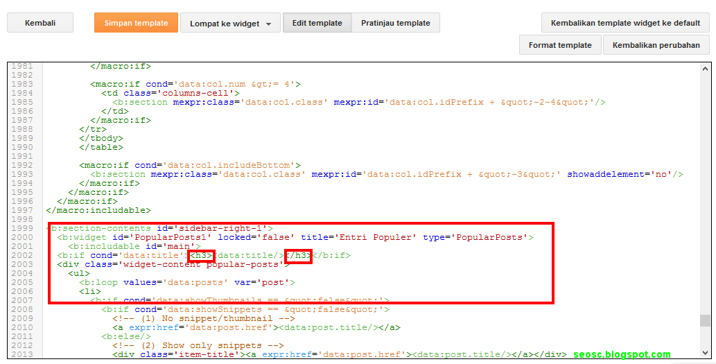 Cara Memasang Meta Description,Title Tag,dan Heading Tag Di Blogger