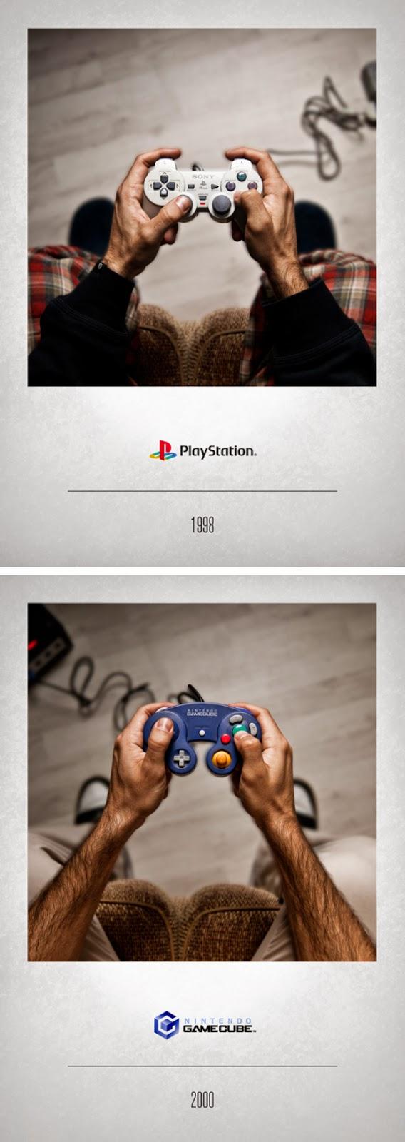 Controles de videojuegos a través de los años