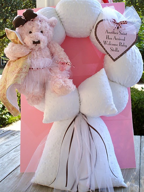 10. Custom Pink Bear Ballerina Wreath to Match Bedding