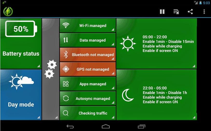 GreenPower Premium, penghemat baterai berbayar di Android