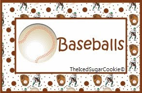 Baseball Food Cards