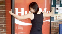 Hug Coca-Cola Vending Machine, Get Free Soda
