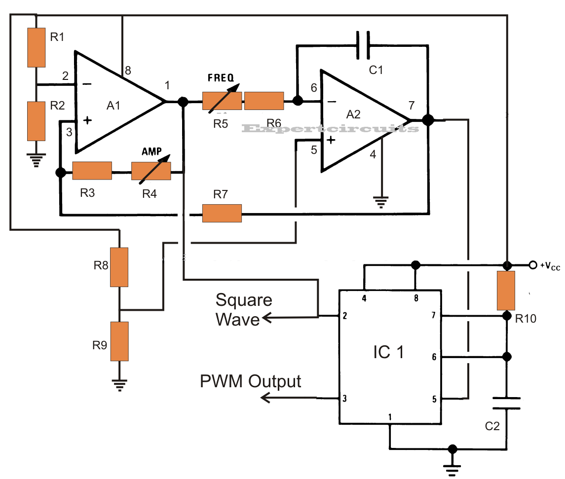 Circuit Diagram Of Pwm Inverter Sg3524 250w Simple Electronic Pure Sine Wave Using Ic 555 Schematics World