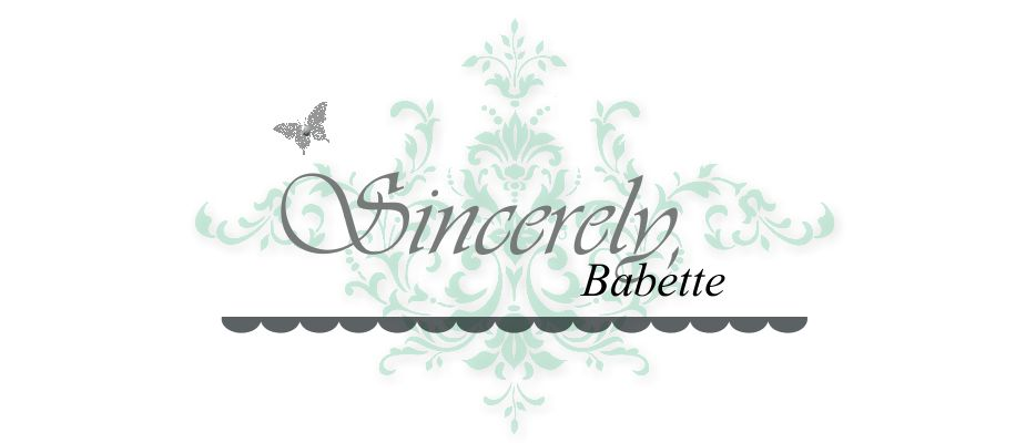Sincerely, Babette