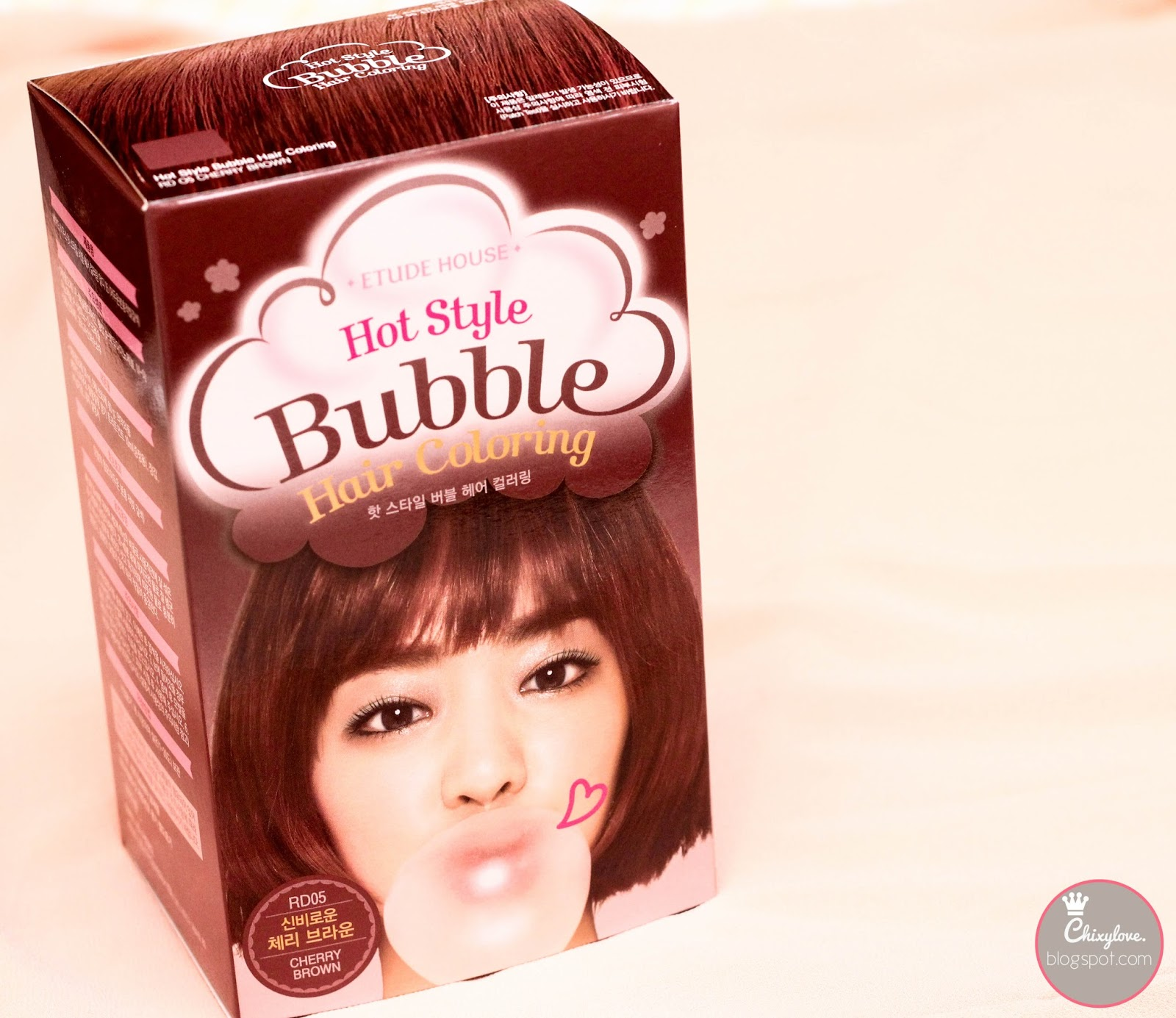 Make Up And Hair Muah Etude House Bubble Hair Coloring In Cherry
