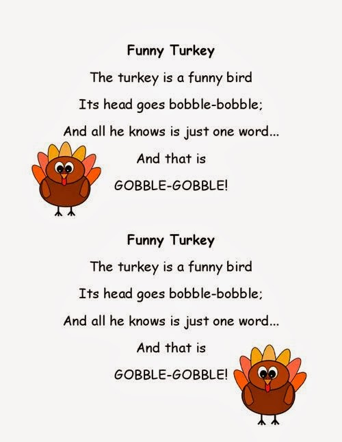 Funny Thanksgiving Poems For Kids