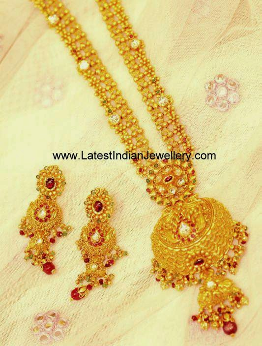 Latest Gold bridal haram design