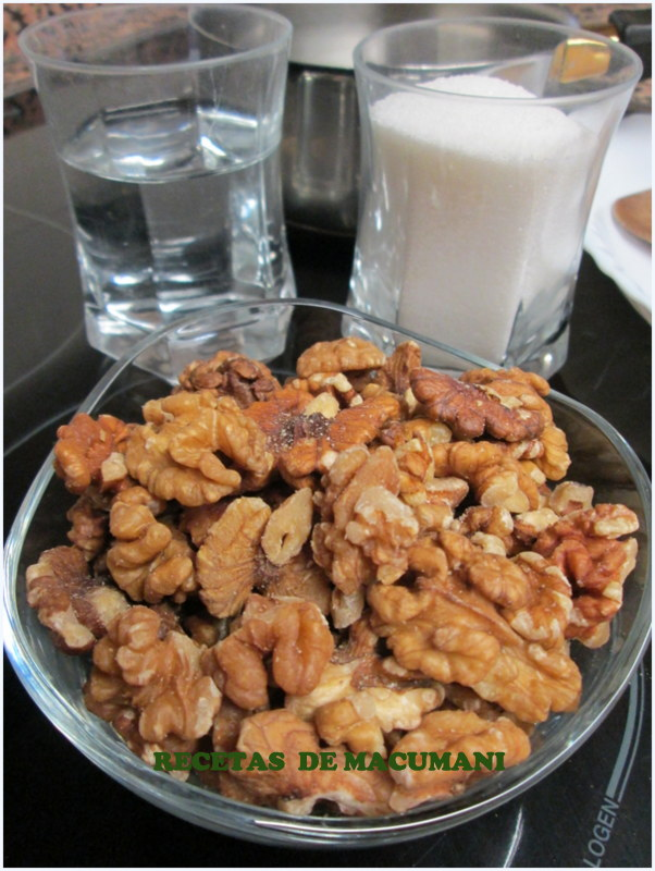 INGREDIENTES NUECES CARAMELIZADAS