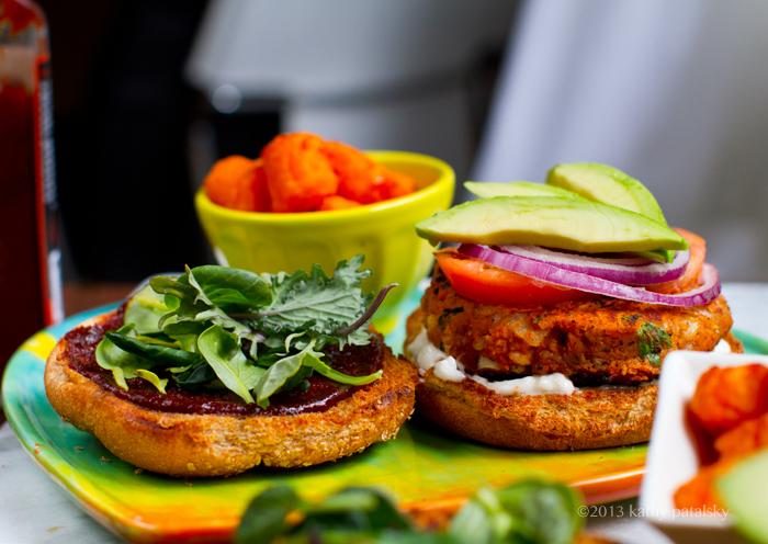 Video: Sweet Potato Veggie Burgers! New on YouTube.