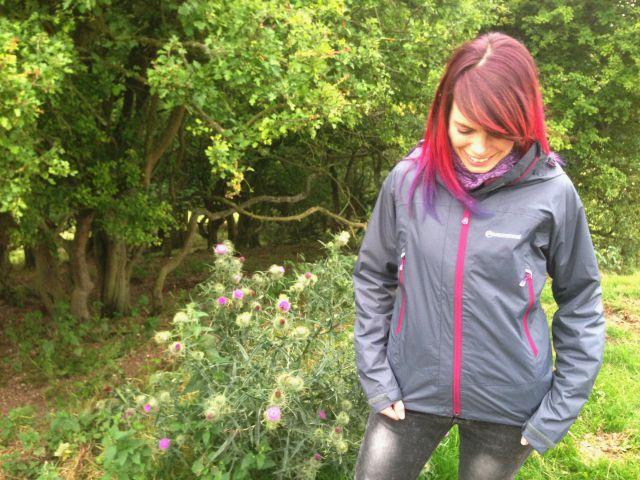 Jennifer Tulip in a waterproof jacket