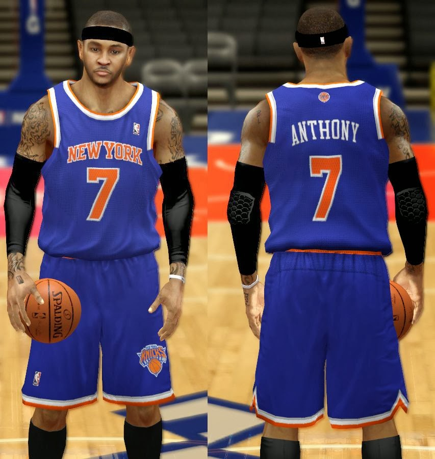 Real Away Blue Knicks NBA2K Jersey