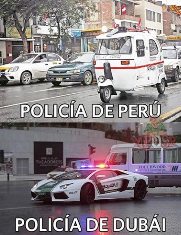 La policía del Perú