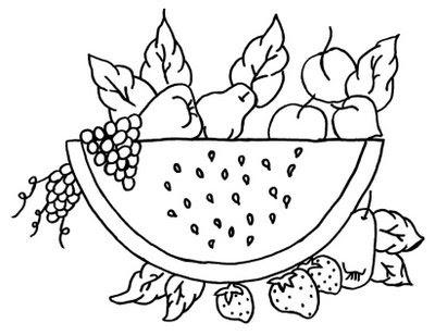Desenhos de Frutas para Pintar
