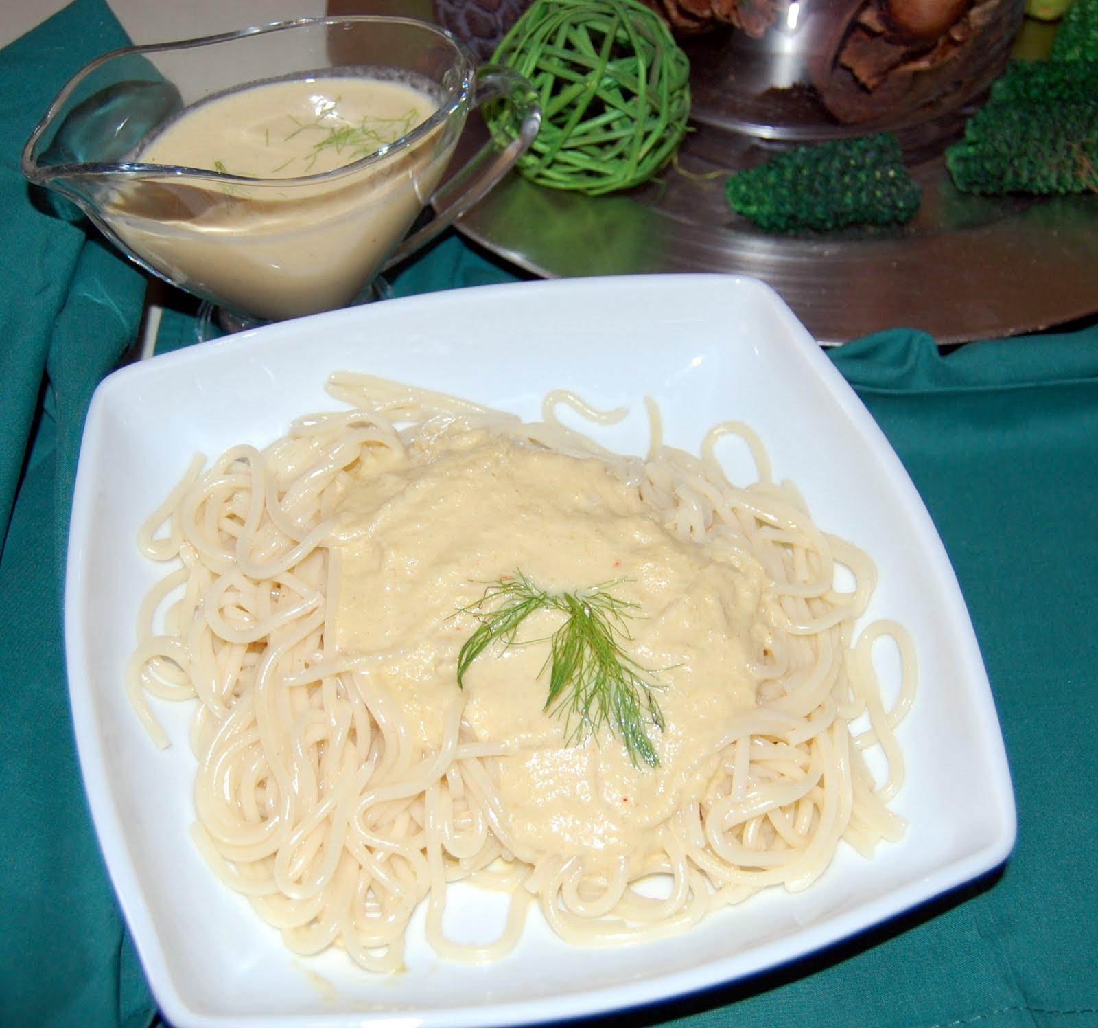 Maleta y peineta espaquetis con salsa de hinojo y ora for Cocinar hinojo