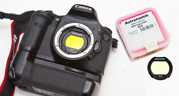 Canon EOS 7D with Astronomik CLS Clip filter