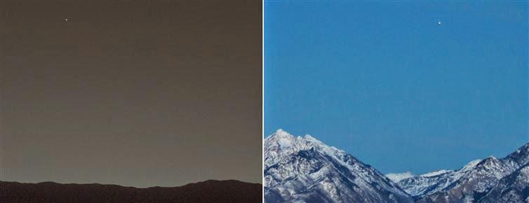 الأرض من المريخ والمريخ من الأرض