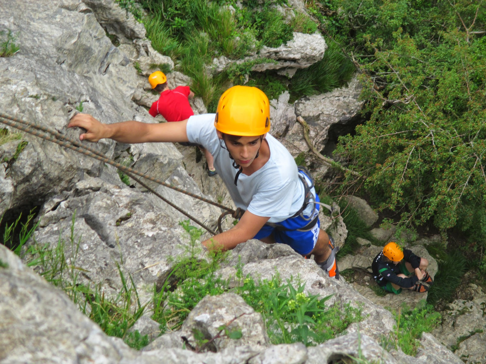 Curso de escalada en roca: Santa Barbara (Hernani)