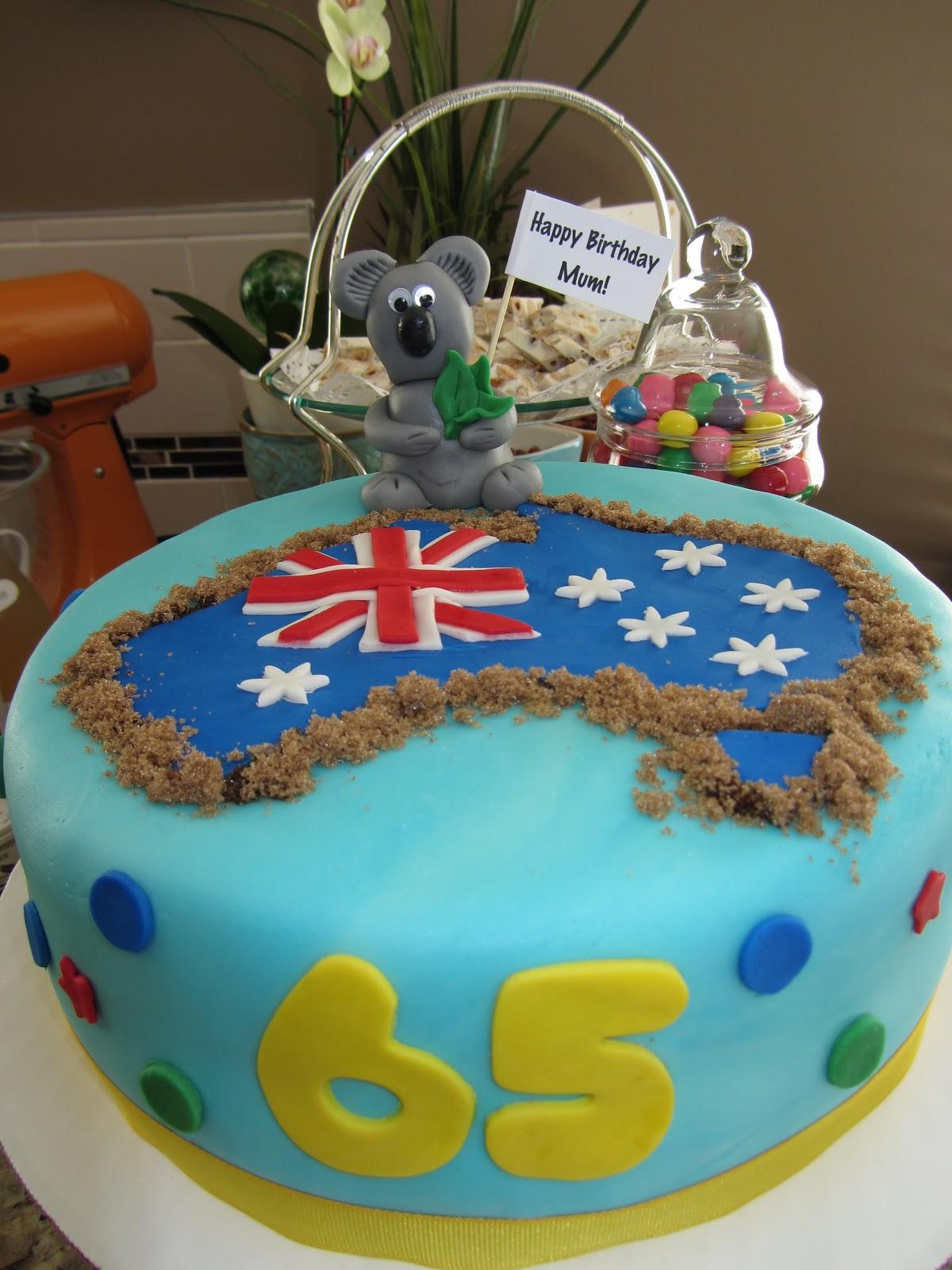 The Sweet Life 65th Aussie Koala Cake