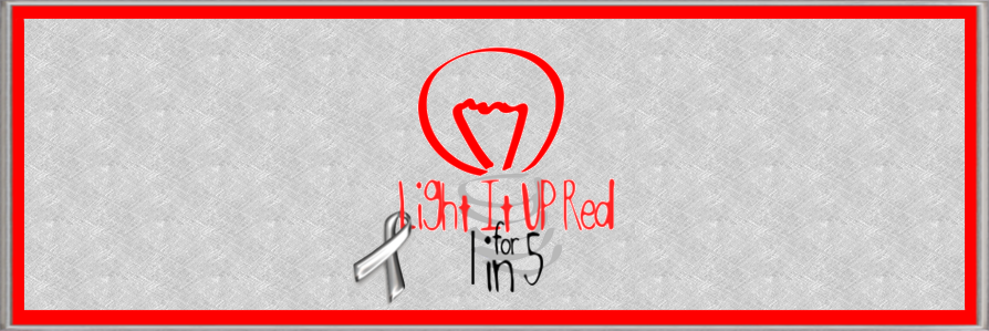Light It Up Red for 1in5