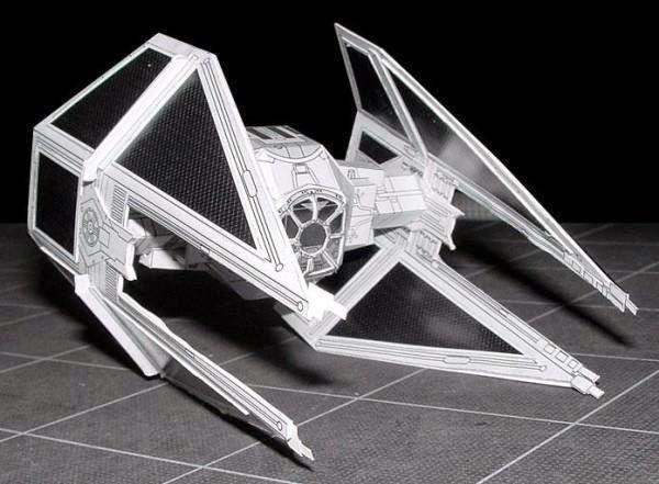Tie fighter star wars by sci fi paper via papermau 01 jpg