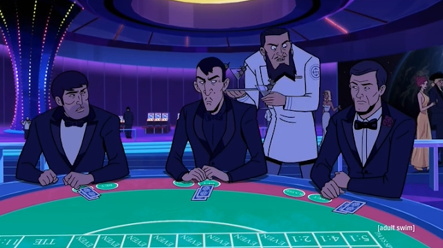 Why's Adam Driver playing baccarat?
