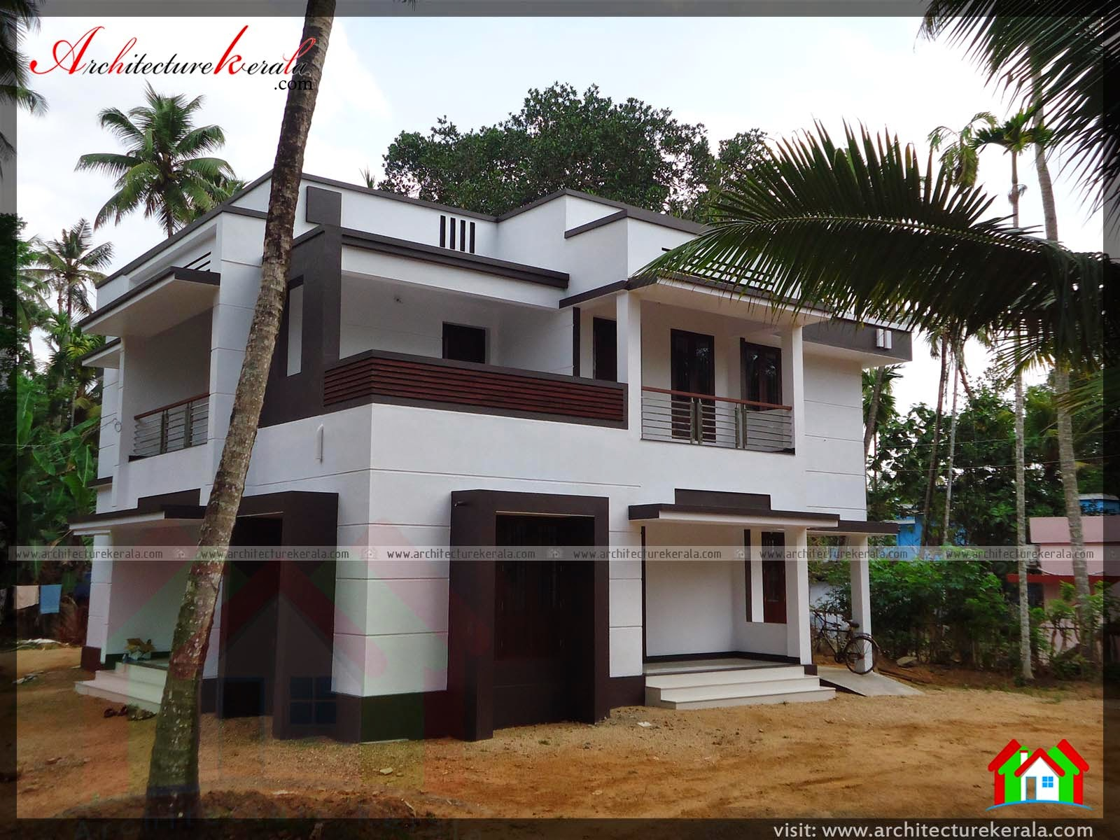 Photo of an contemporary style house architecture kerala for Contemporary home elevations
