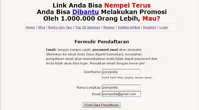 pendaftaran backlink