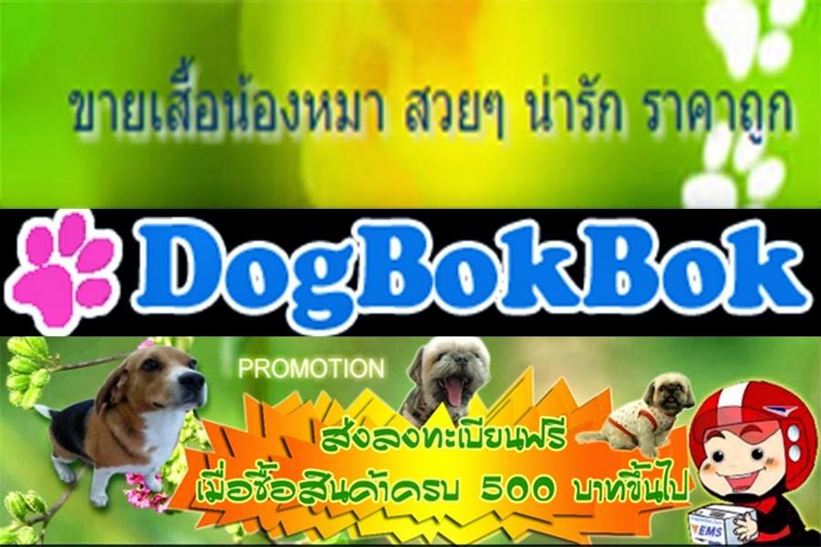 เว็บไซต์ DogBokBok.com จำหน่ายเสื้อหมา