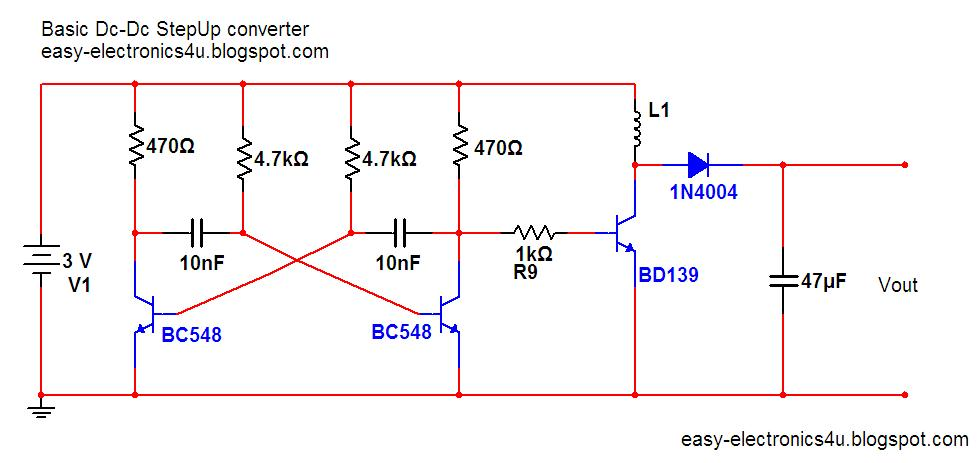 basic step up dc dc converter easy electronics rh easy electronics4u blogspot com Basic Electrical Wiring Diagrams Basic Home Wiring Diagram