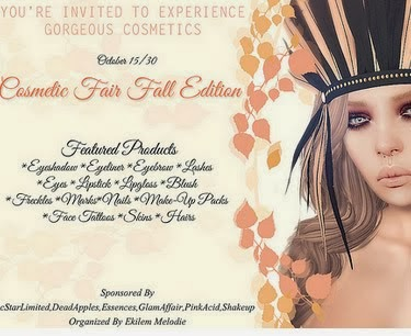 Cosmetic fair fall 10/15 to 10 /30