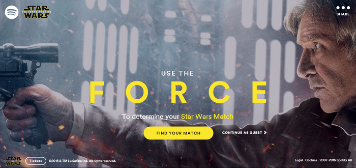 Spotify Star Wars Match